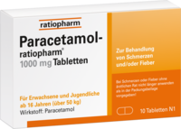 PARACETAMOL-ratiopharm 1.000 mg Tabletten